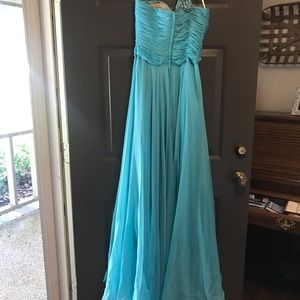 Sherri Hill Dresses - Turquoise Sherri Hill prom dress